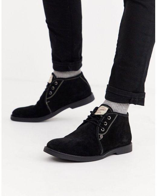 Черные Замшевые Ботинки -черный Original Penguin для него, цвет: Black