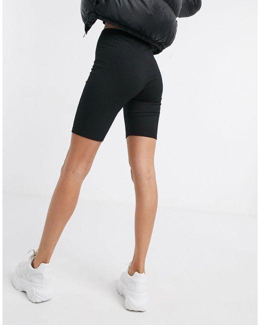 Леггинсы-шорты В Рубчик ASOS, цвет: Black
