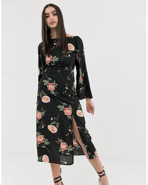 Quasi Barcellona eredità  Fashion Union Synthetic Backless Midi Dress in Black - Lyst