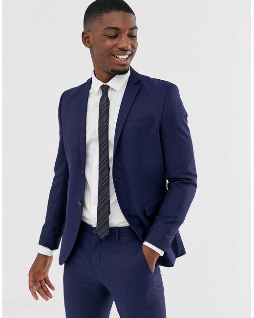 Темно-синий Эластичный Приталенный Пиджак Premium Jack & Jones для него, цвет: Blue