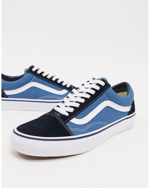 Синие Кроссовки Old Skool-синий Vans для него, цвет: Blue