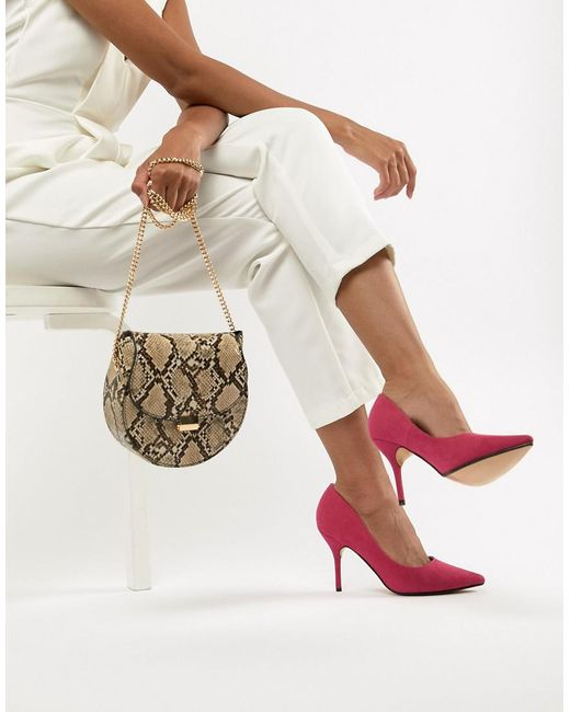 Truffle Collection - Pink Pointed Heels - Lyst