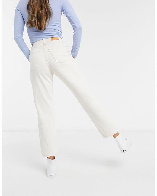 Джинсы Прямого Кроя Из Органического Хлопка -белый Monki, цвет: White