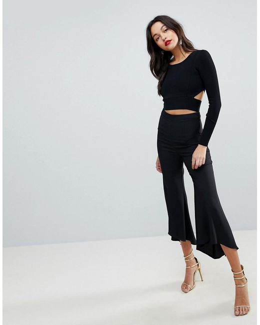 ASOS - Black Tailored Soft Fluted Trouser - Lyst