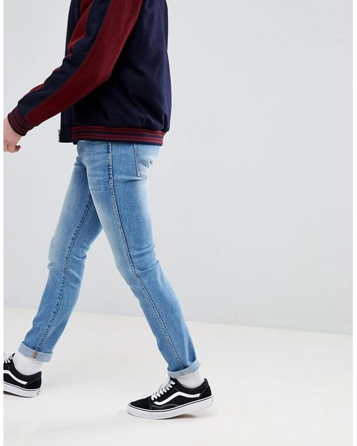 Snap Shaded Mid Blue Skinny Jeans - Mid blue Dr. Denim E4Ix4OcQh9