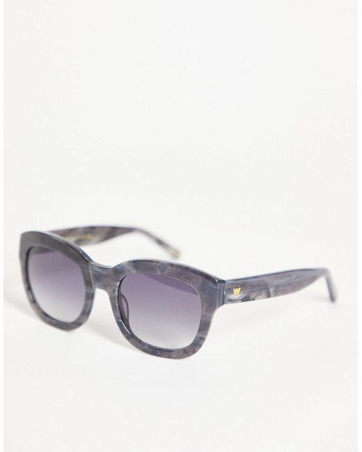 Солнцезащитные Очки В Массивной Оправе -серый Whistles, цвет: Gray