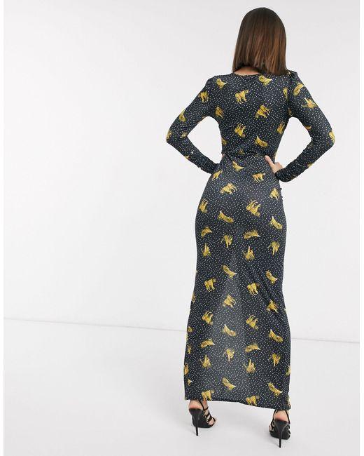 Платье Макси С Принтом -мульти Never Fully Dressed, цвет: Multicolor