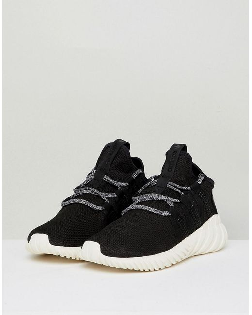 sale retailer 015d8 10230 adidas Originals Tubular Dawn Trainers in Black - Lyst