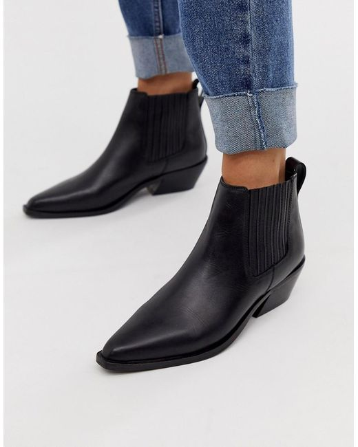 ce6d8341060 Women's Adelaide Leather Western Chelsea Boots In Black