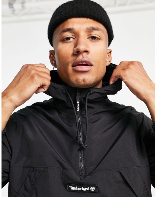 Timberland Black Windbreaker Pullover Jacket for men