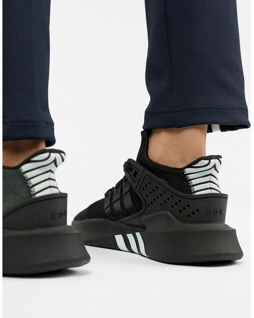 ecececb9b936 Adidas Originals - Eqt Bask Adv Sneakers In Black Cq2991 for Men - Lyst ...