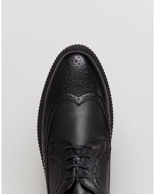 ASOS Denim Creeper Brogue Shoes in