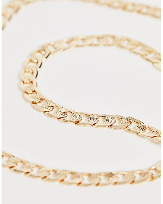 Long Gold Finish Wood Beaded Soft Fringed Tassel Statement Necklace