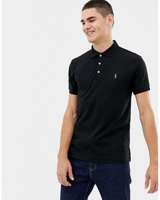 8921c89af polo-ralph-lauren-black-Slim-Fit-Pima-Polo-Multi-Player-Logo-In-Black.jpeg