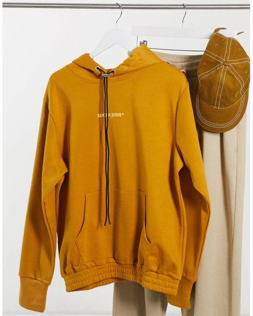 Худи Горчичного Цвета С Логотипом -желтый Sixth June для него, цвет: Yellow