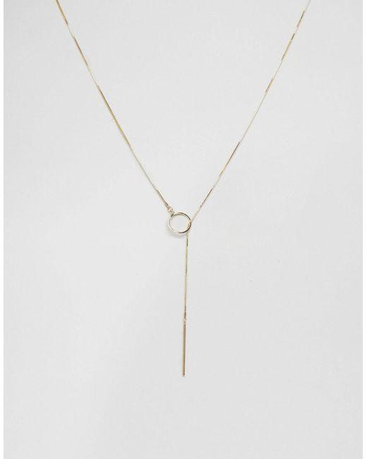 Ashiana | Metallic Pull Through Lariat Necklace | Lyst