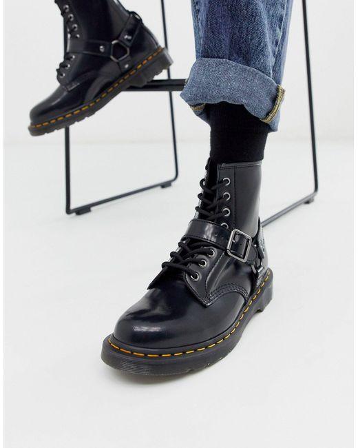 Лакированные Ботинки С Люверсами И Ремешками 1460 Dr. Martens для него, цвет: Black