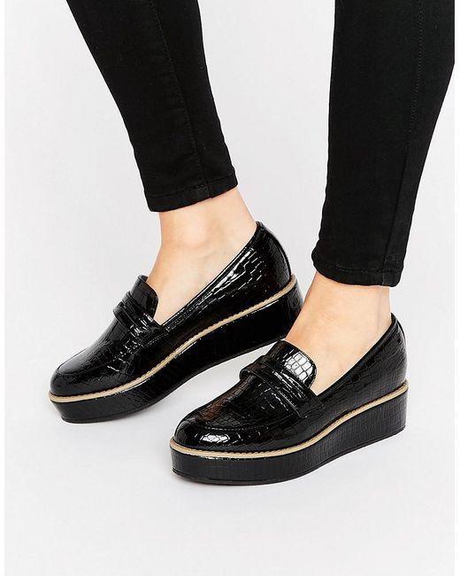 629d156ab70 Daftar Harga Asos More Time Flatform Loafers In Black Lyst Termurah ...