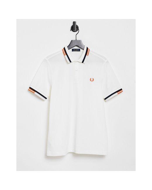 Белое Поло С Контрастной Отделкой -белый Fred Perry для него, цвет: White