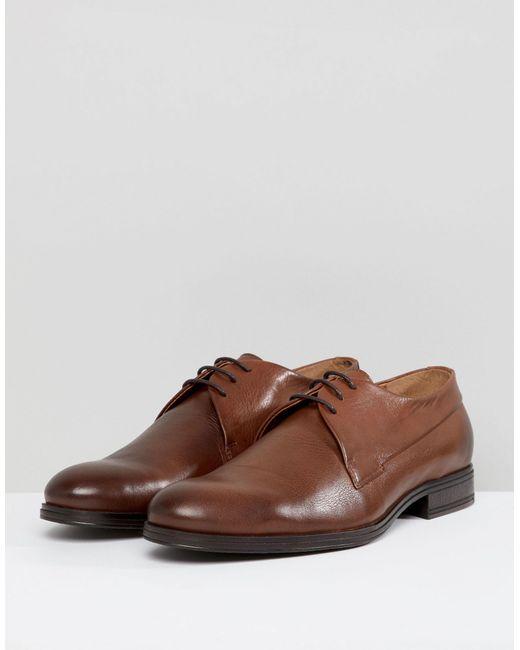 Коричневые Кожаные Дерби Premium-коричневый Jack & Jones для него, цвет: Brown