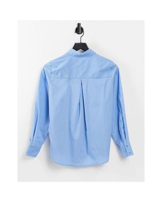 Голубая Классическая Поплиновая Рубашка -голубой Y.A.S, цвет: Blue