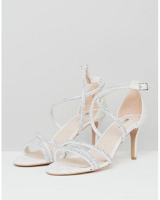 Gravity Embellished Heeled Sandals - White Carvela S7H1DYh
