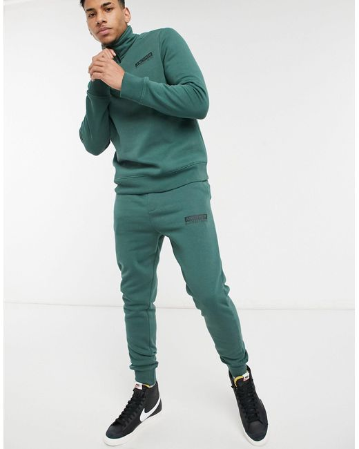 Another Influence Green Logo Tracksuit for men