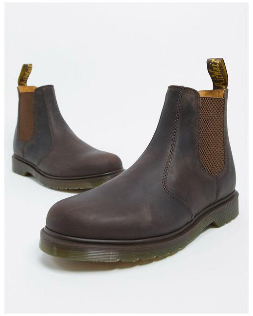 Коричневые Ботинки Челси Dr.martens 2976-коричневый Dr. Martens для него, цвет: Multicolor