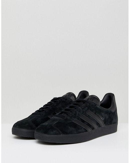 cheaper 26357 c0d5c ... switzerland adidas originals gazelle trainers in black cq2809 for men  lyst dbaa5 a316c