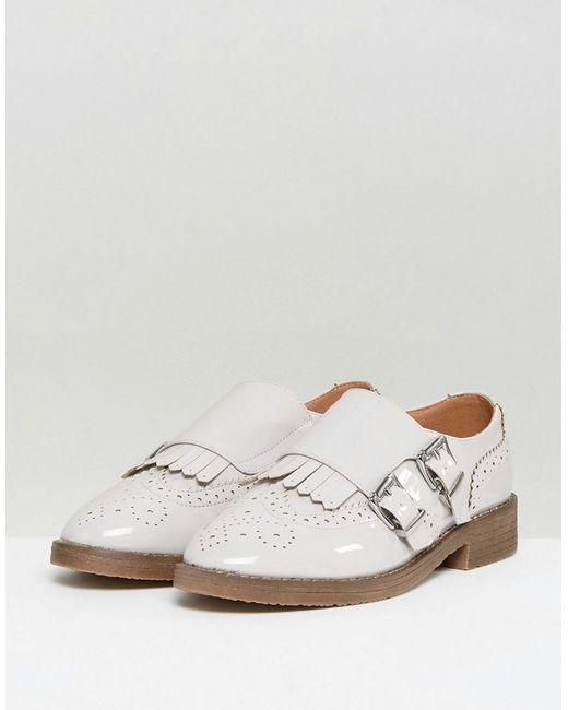Asos Moine Mastermind Chaussures Plates - Verni Noir Dc9TTbTO