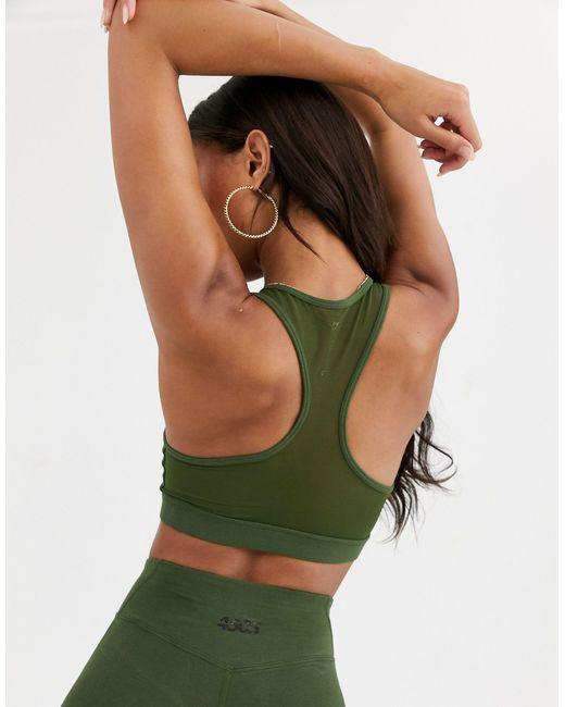 Хлопковый Бюстгальтер С Овальным Вырезом -зеленый ASOS 4505, цвет: Green