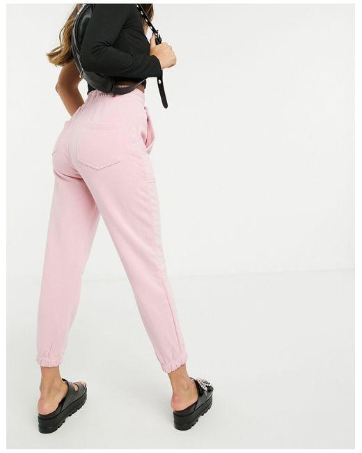 Bershka Pink – Oversize-Jogginghose