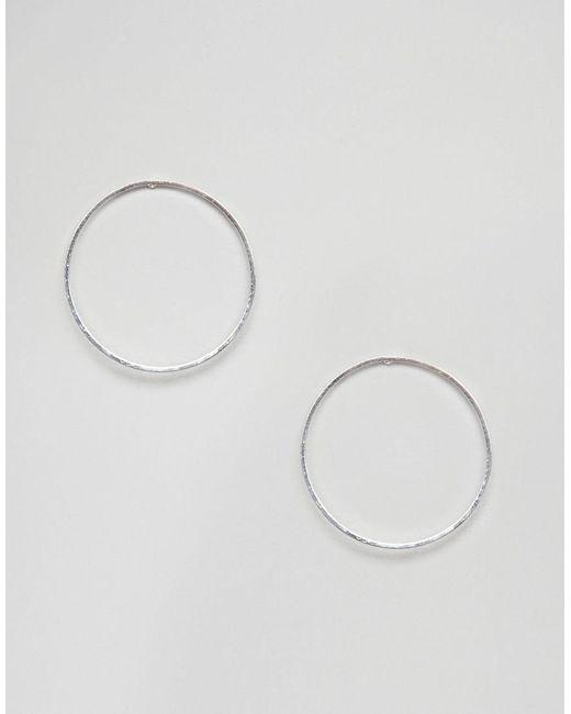 Pilgrim - Metallic Silver Plated Hoop Earrings - Lyst