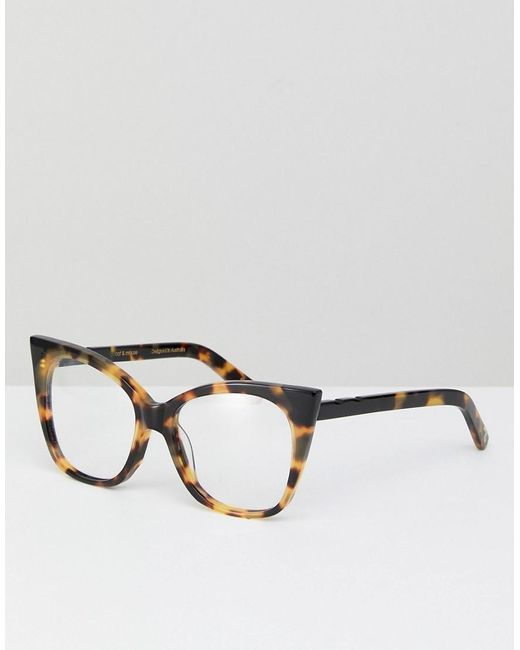 Pared Eyewear Brown Pared Clear Lens Cat Eye Glasses In Tort for men