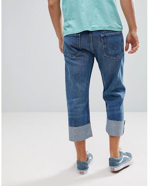 8b850b7cdfe ... Levi's - Blue 501 Cropped Tapered Jeans Lightwash for Men - Lyst
