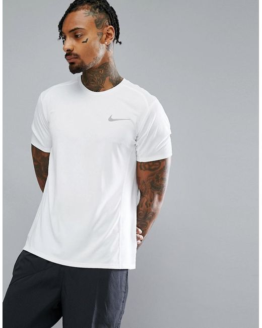 Nike - Miler Dri-fit T-shirt In White 833591-100 for Men - Lyst