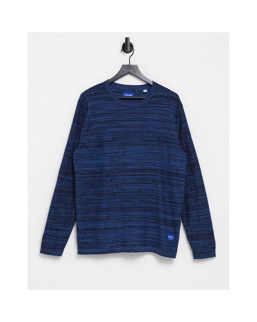 Темно-синий Джемпер С Круглым Вырезом Jack & Jones для него, цвет: Blue