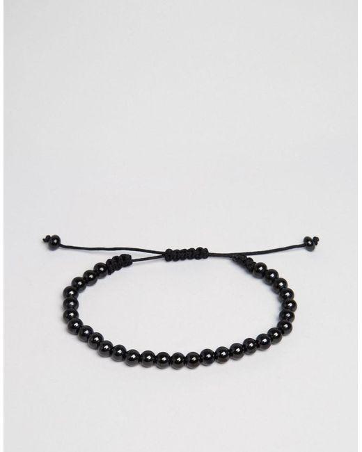 Vitaly | Stratos Beaded Bracelet In Black for Men | Lyst