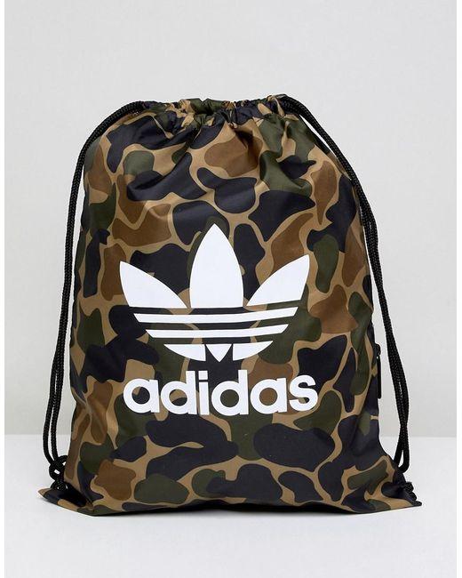 d5b6627246 Adidas Originals - Green Sac cordon de serrage motif camouflage for Men -  Lyst ...