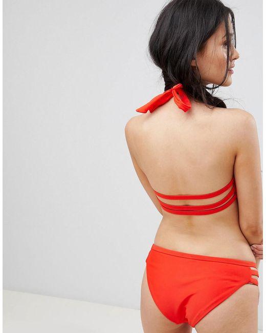 c1871c3409 ... Pimkie - Red Haut de bikini croisé sur le devant - Lyst · Découvrir ASOS