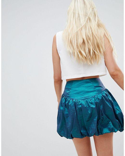 Пышная Мини-юбка ASOS, цвет: Blue