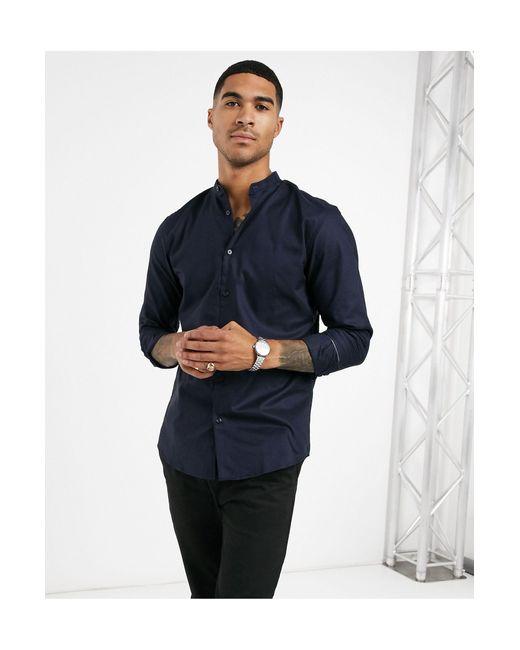 Темно-синяя Рубашка -темно-синий SELECTED для него, цвет: Blue