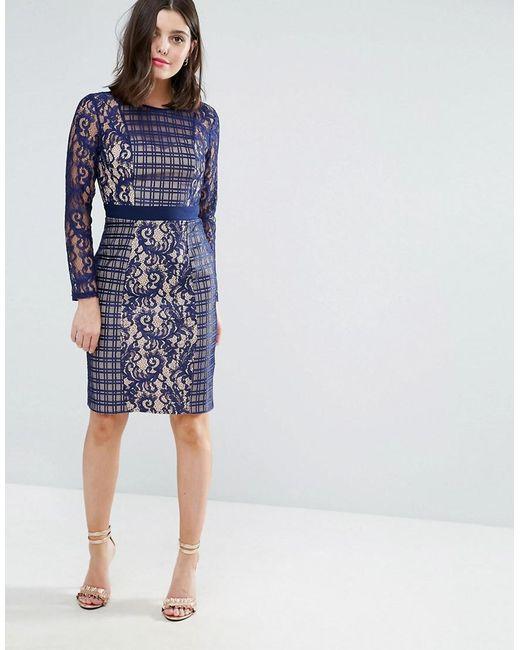 3/4 Sleeve Contrast Lace Dress - Black Little Mistress b94TM06o