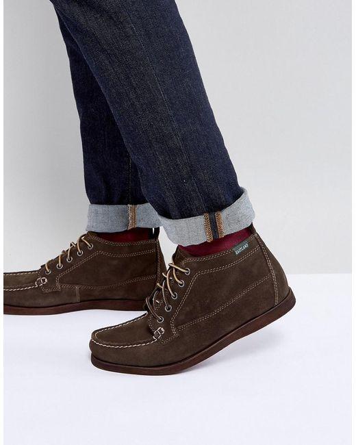 Eastland - Brown Seneca Suede Boots In Dark Olive for Men - Lyst
