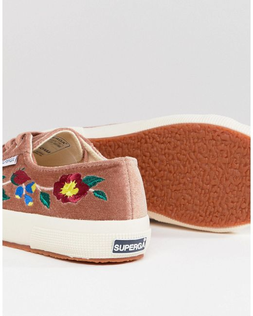 Superga 2750 Trainers In Velvet With
