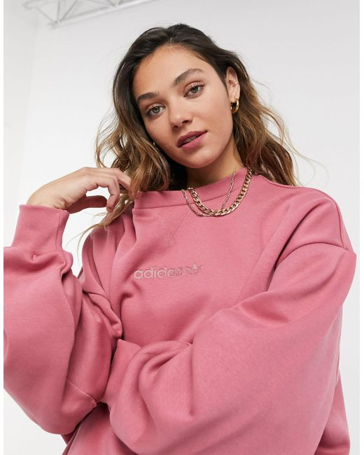Розовый Oversized Свитшот 'cosy Comfort' Adidas Originals, цвет: Pink