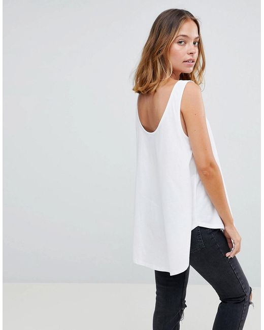 Vest In Swing Fit With Scoop Hem - White Asos Clearance Best Place vSpoFzRBg
