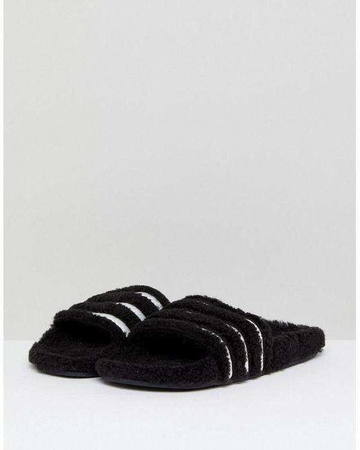 adidas Performance ADILETTE - Pool sliders - core black/footwear white jniNRJm