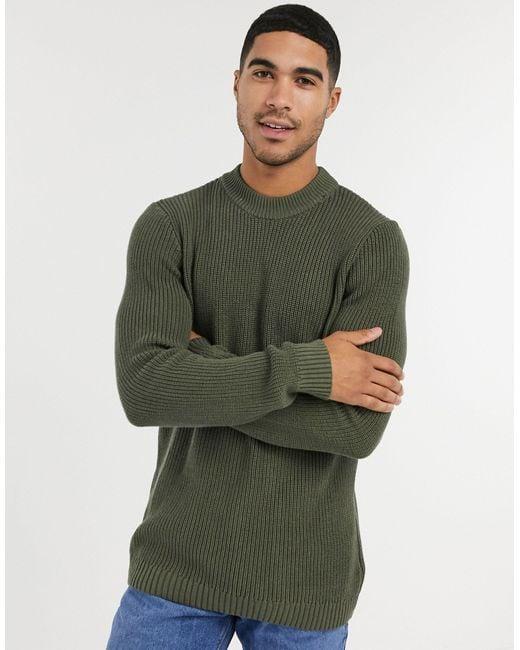 Зеленый Трикотажный Джемпер Topman для него, цвет: Green