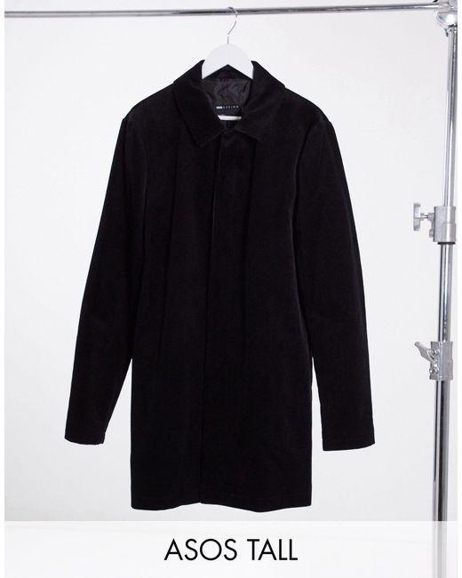 Черный Вельветовый Тренч ASOS для него, цвет: Black